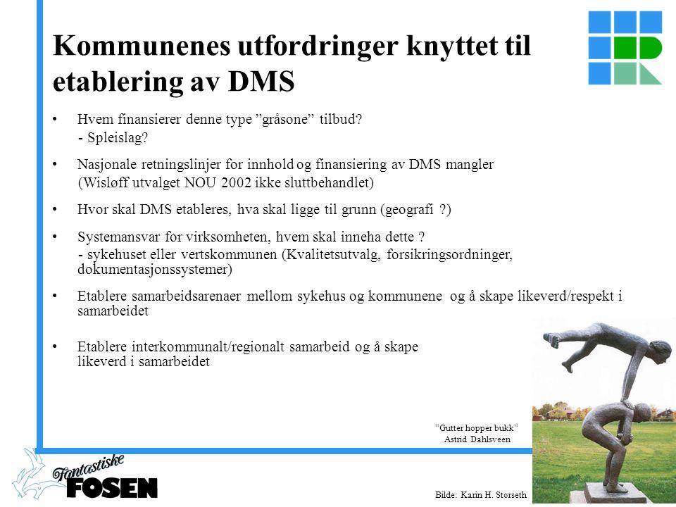 www.fosen.net Kommunenes utfordringer knyttet til etablering av DMS Hvem finansierer denne type gråsone tilbud.