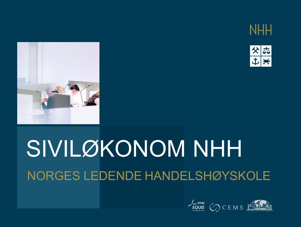 SIVILØKONOM NHH NORGES LEDENDE HANDELSHØYSKOLE