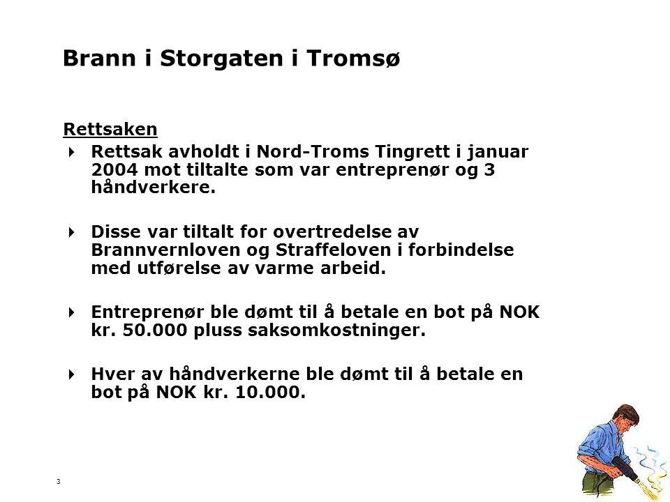 3 Rettsaken  Rettsak avholdt i Nord-Troms Tingrett i januar 2004 mot tiltalte som var entreprenør og 3 håndverkere.  Disse var tiltalt for overtrede