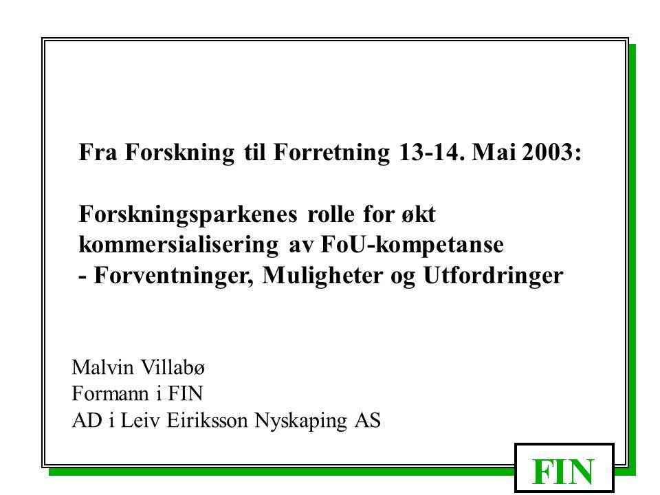 Offentlig deltagelse i Næringsutvikling - En næringspolitikk for nyskaping Slik er det!!!.