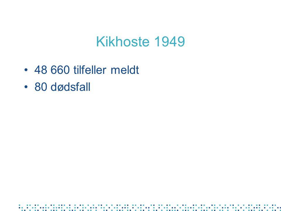 Kikhoste 1949 48 660 tilfeller meldt 80 dødsfall