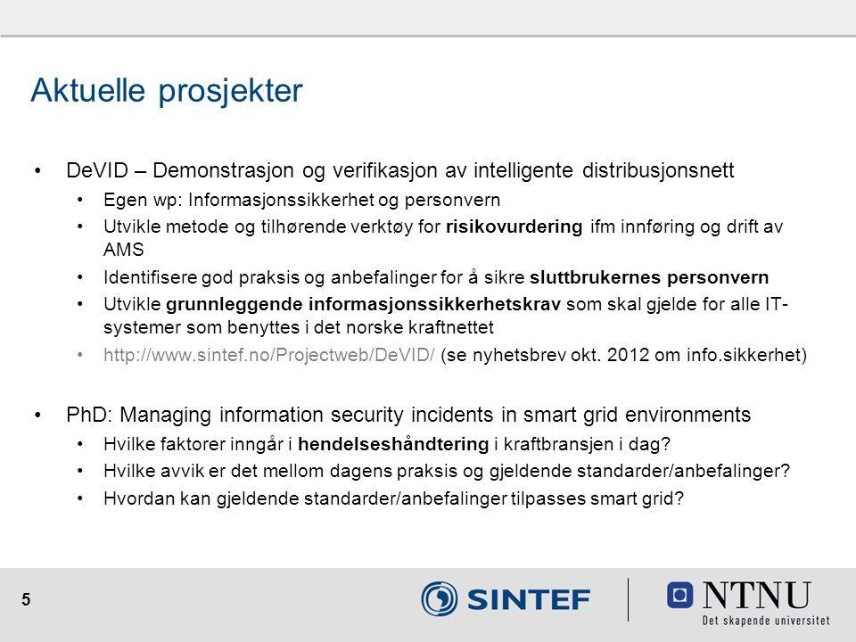 16 @SINTEF_Infosec infosec.sintef.no Besøk bloggen vår: @mariabline