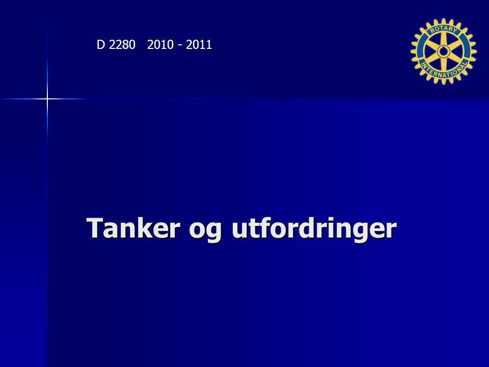 Tanker og utfordringer D 2280 2010 - 2011