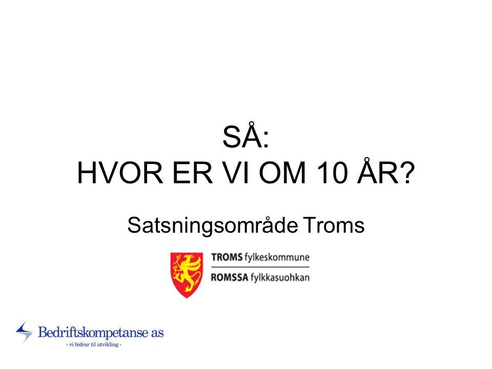 SÅ: HVOR ER VI OM 10 ÅR Satsningsområde Troms