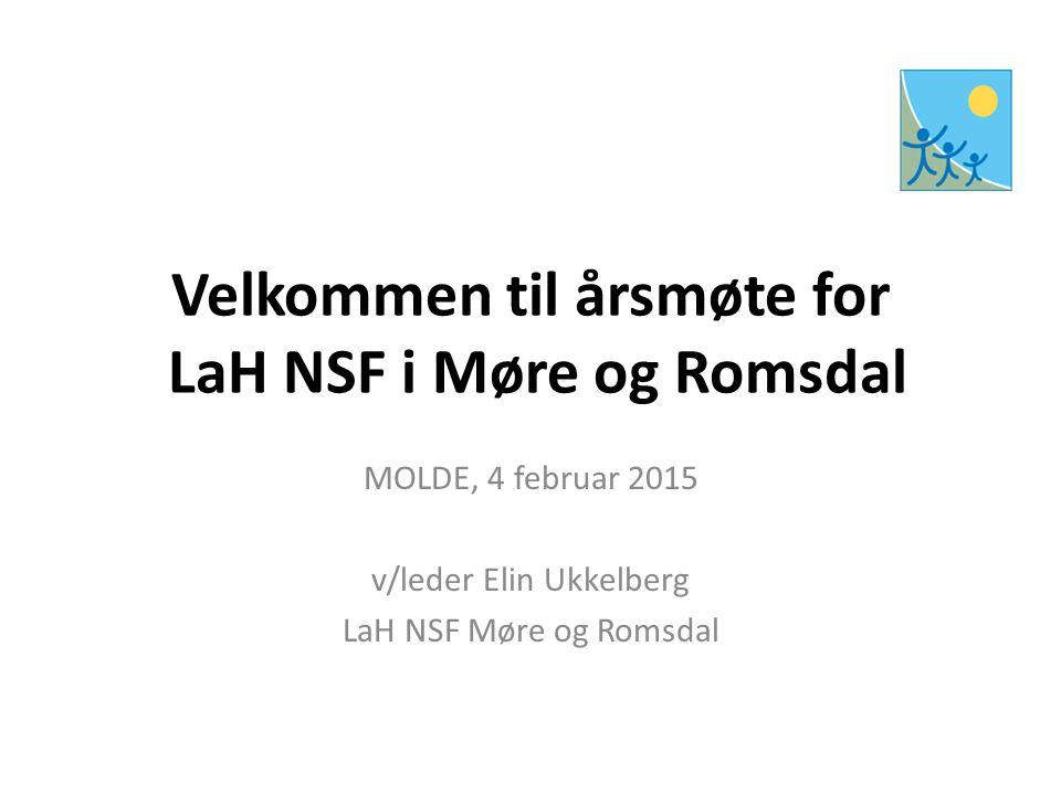 Velkommen til årsmøte for LaH NSF i Møre og Romsdal MOLDE, 4 februar 2015 v/leder Elin Ukkelberg LaH NSF Møre og Romsdal