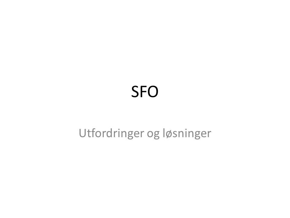 SFO Utfordringer og løsninger
