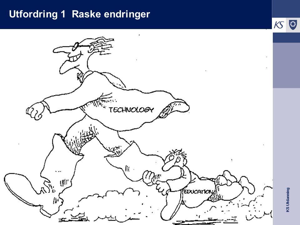 KS Utdanning Utfordring 2 Forgubbing og generasjonsskiftet Aftenposten 24.02.08 7000 lærere vil slutte i løpet av 3 år Halvparten av de yngre lærerne ville slutte i løpet av 10 år