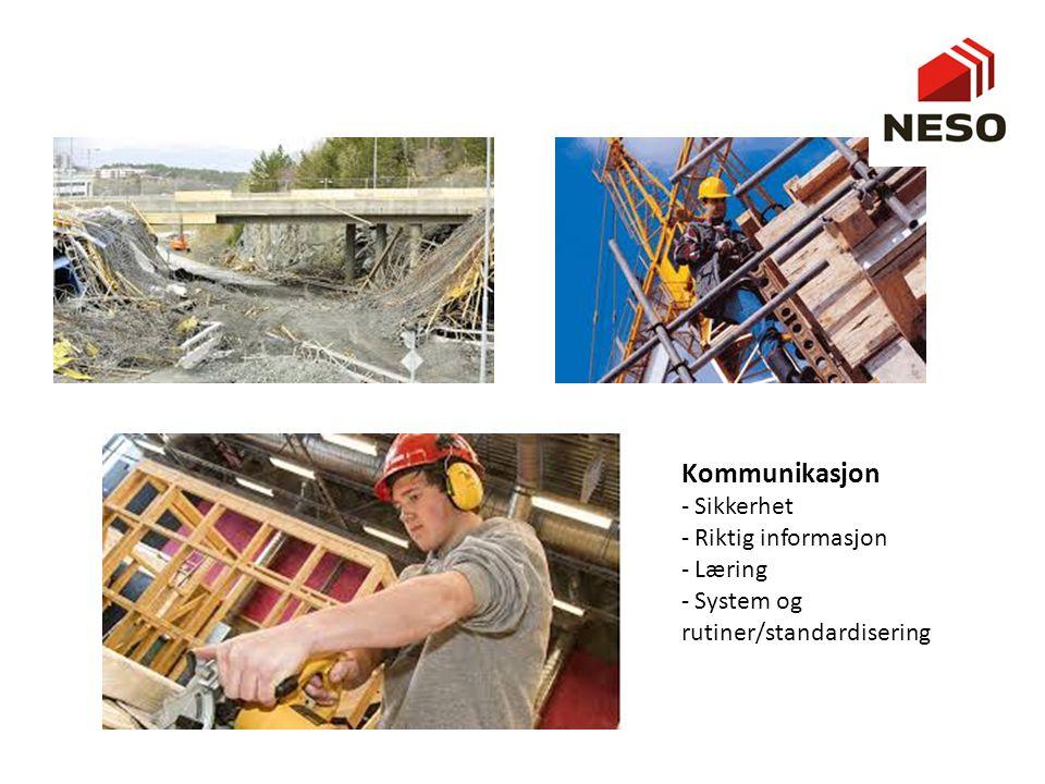 Kommunikasjon - Sikkerhet - Riktig informasjon - Læring - System og rutiner/standardisering