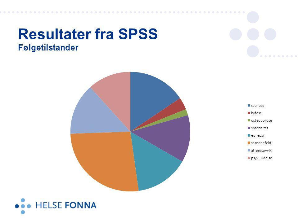 Resultater fra SPSS Følgetilstander
