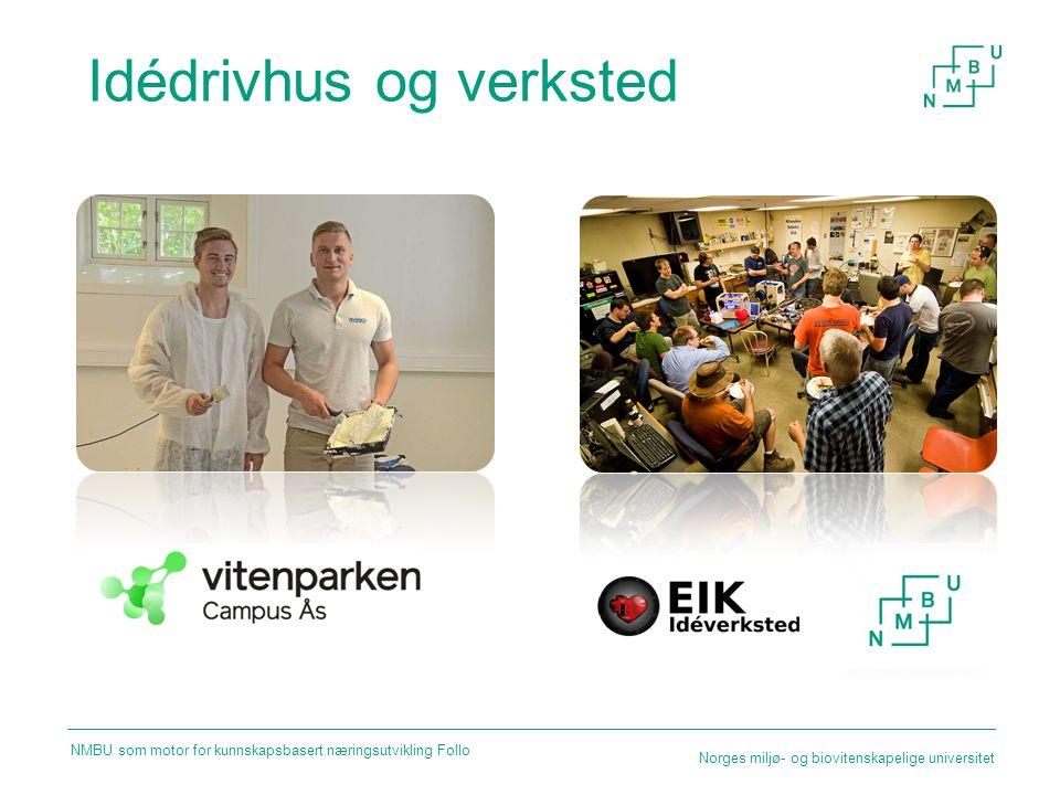 Idédrivhus og verksted Norges miljø- og biovitenskapelige universitet NMBU som motor for kunnskapsbasert næringsutvikling Follo