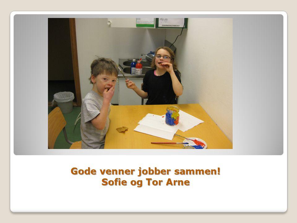 Gode venner jobber sammen! Sofie og Tor Arne