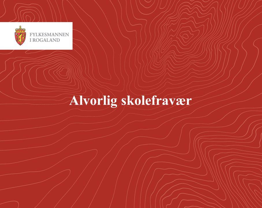 2 Skolefravær I følge Voksne for barn antas det at ca 10 000 barn og unge i Norge sliter med skolefravær.