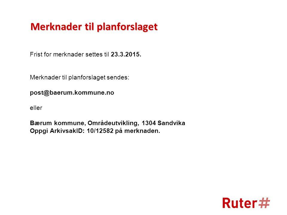 Frist for merknader settes til 23.3.2015.