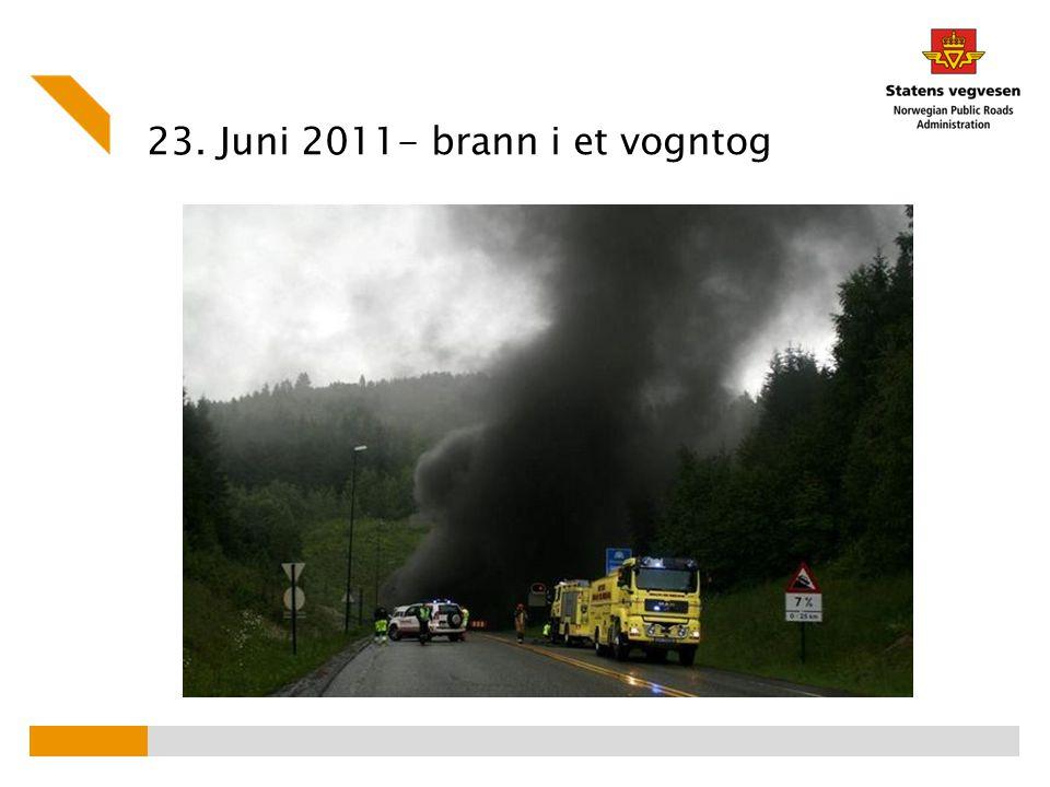 23. Juni 2011- brann i et vogntog