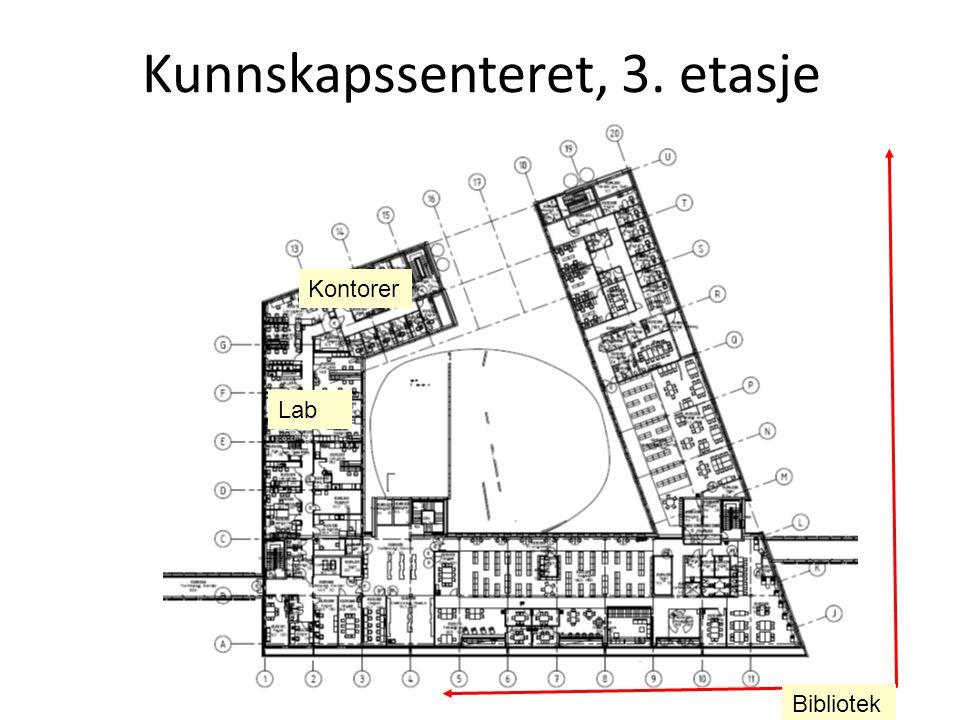 12.01.11, senterkoordinator Anne Mari S. Kvam Kunnskapssenteret, 3. etasje Bibliotek Lab Kontorer