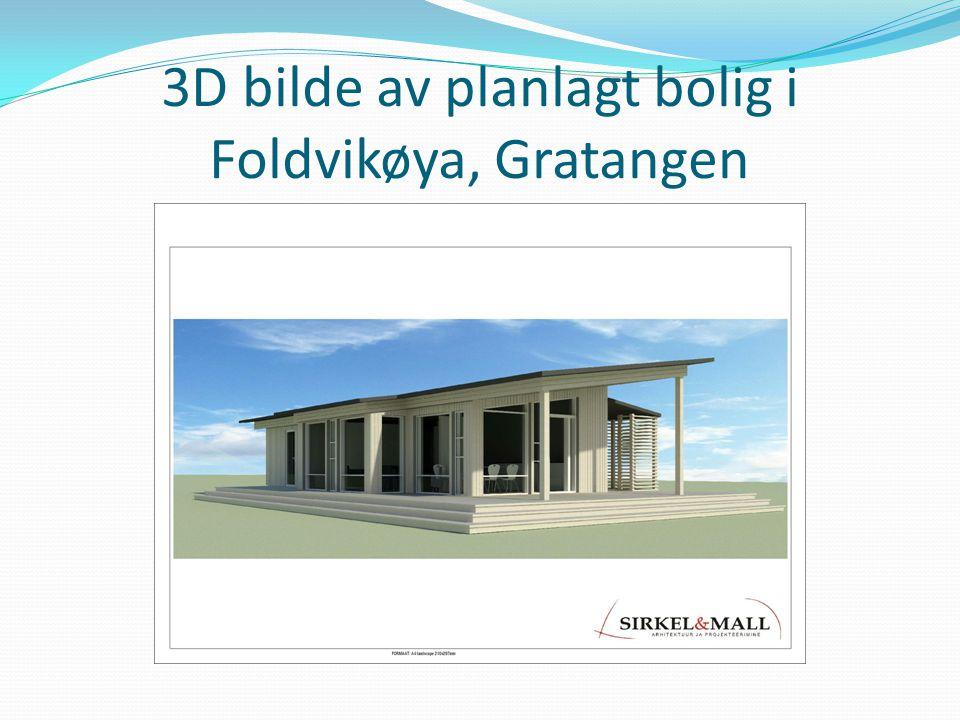 3D bilde av planlagt bolig i Foldvikøya, Gratangen