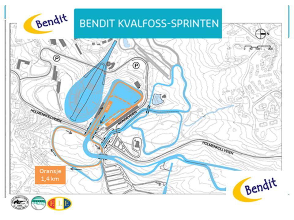 START MÅL Oransje 1,4 km
