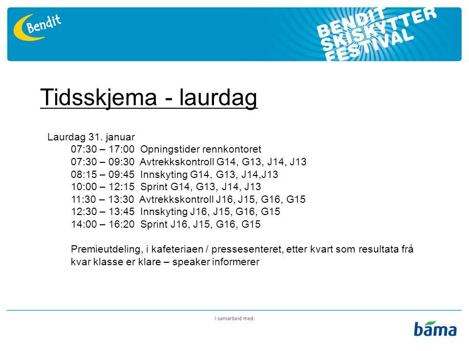 Tidsskjema - søndag Søndag 1.
