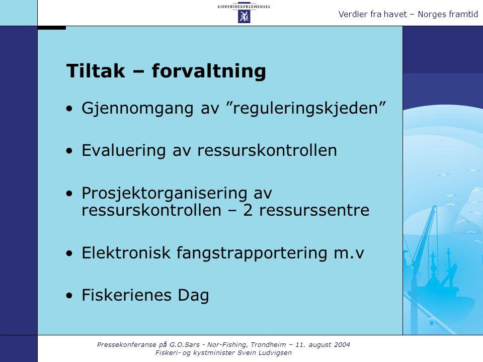 Pressekonferanse på G.O.Sars - Nor-Fishing, Trondheim – 11.