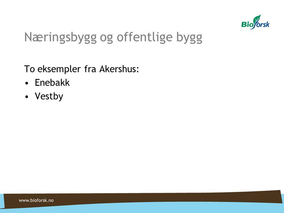 Næringsbygg og offentlige bygg To eksempler fra Akershus: Enebakk Vestby