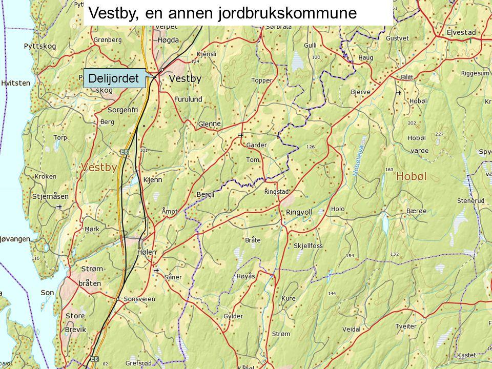 Delijordet Vestby, en annen jordbrukskommune