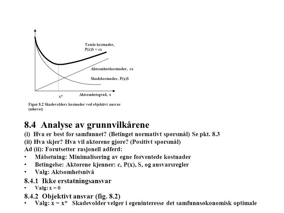 8.4 Analyse av grunnvilkårene (i) Hva er best for samfunnet.