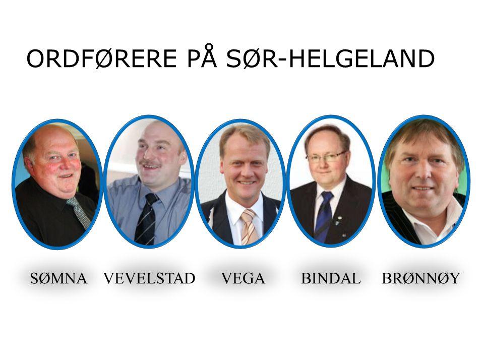 ORDFØRERE PÅ SØR-HELGELAND SØMNA VEVELSTAD VEGA BINDAL BRØNNØY