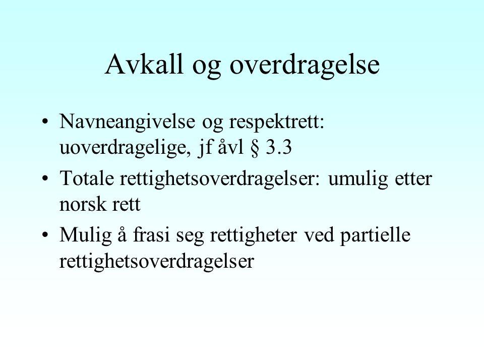 Sitatretten: Utgangspunkter Åvl.