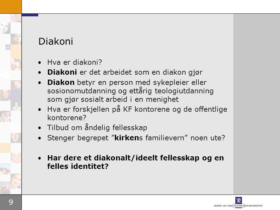9 Diakoni Hva er diakoni.