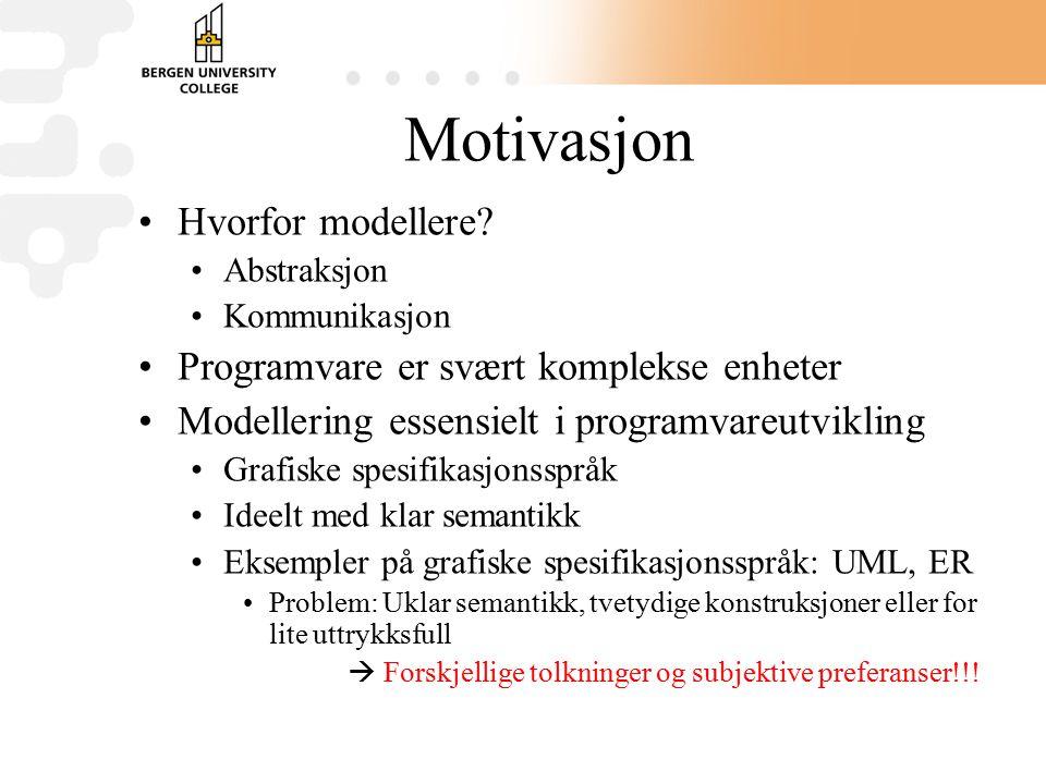 Motivasjon Hvorfor modellere.