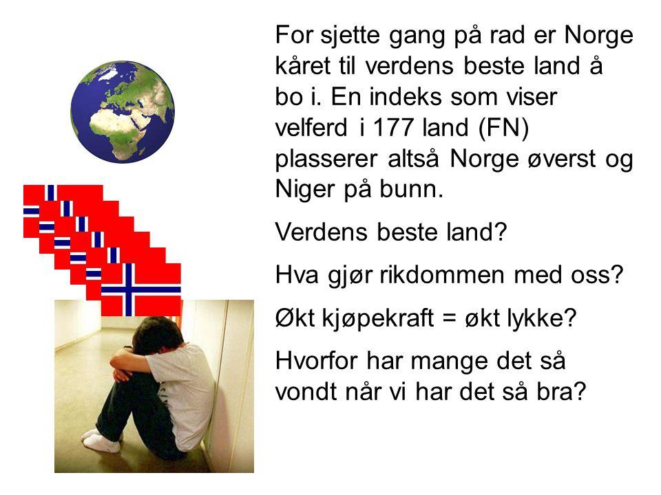 For sjette gang på rad er Norge kåret til verdens beste land å bo i. En indeks som viser velferd i 177 land (FN) plasserer altså Norge øverst og Niger