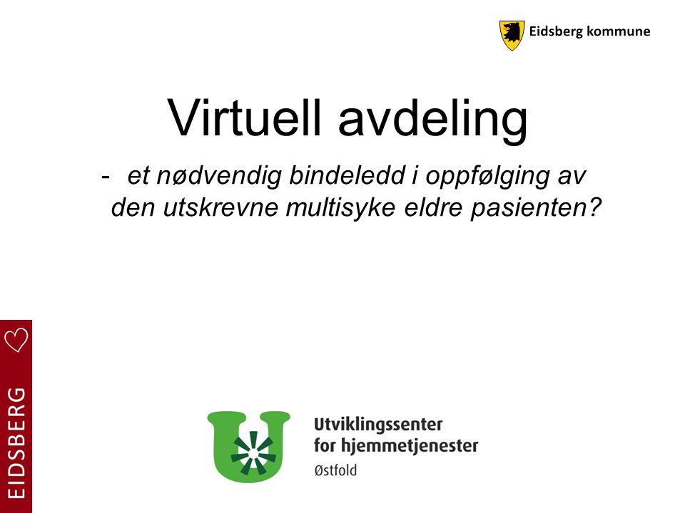 Virtuell avdeling: Visjon: Flere gode år i eget hjem med høy kvalitet på kommunale helsetjenester