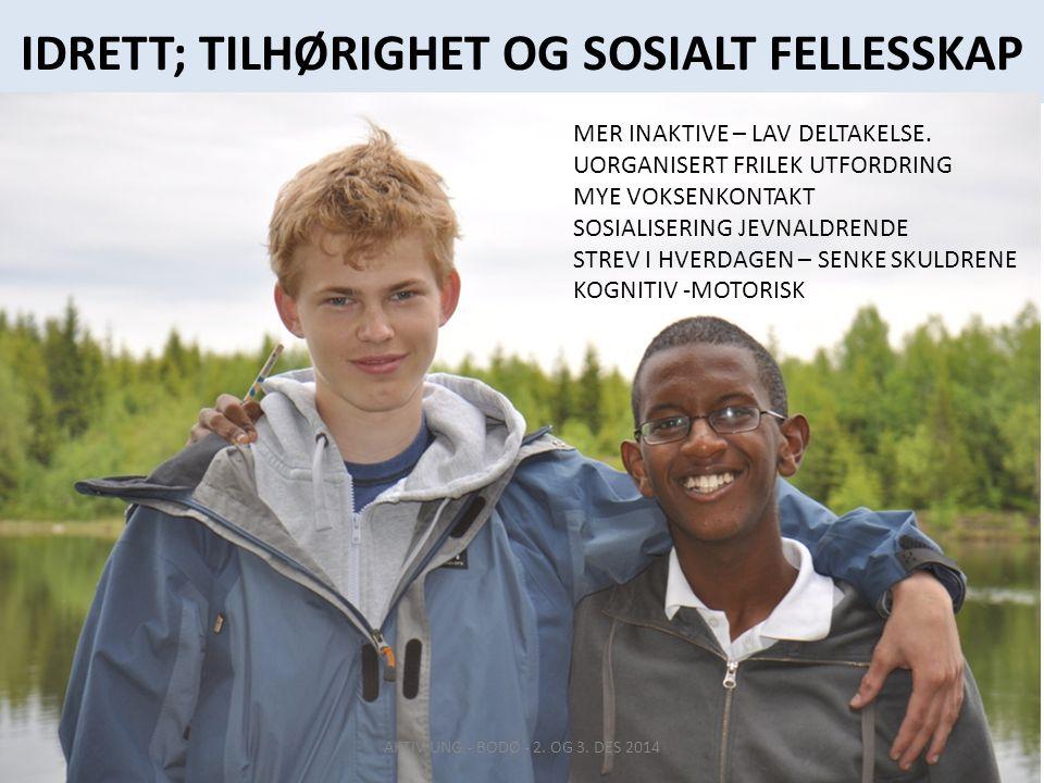 IDRETT; TILHØRIGHET OG SOSIALT FELLESSKAP AKTIV UNG - BODØ - 2.