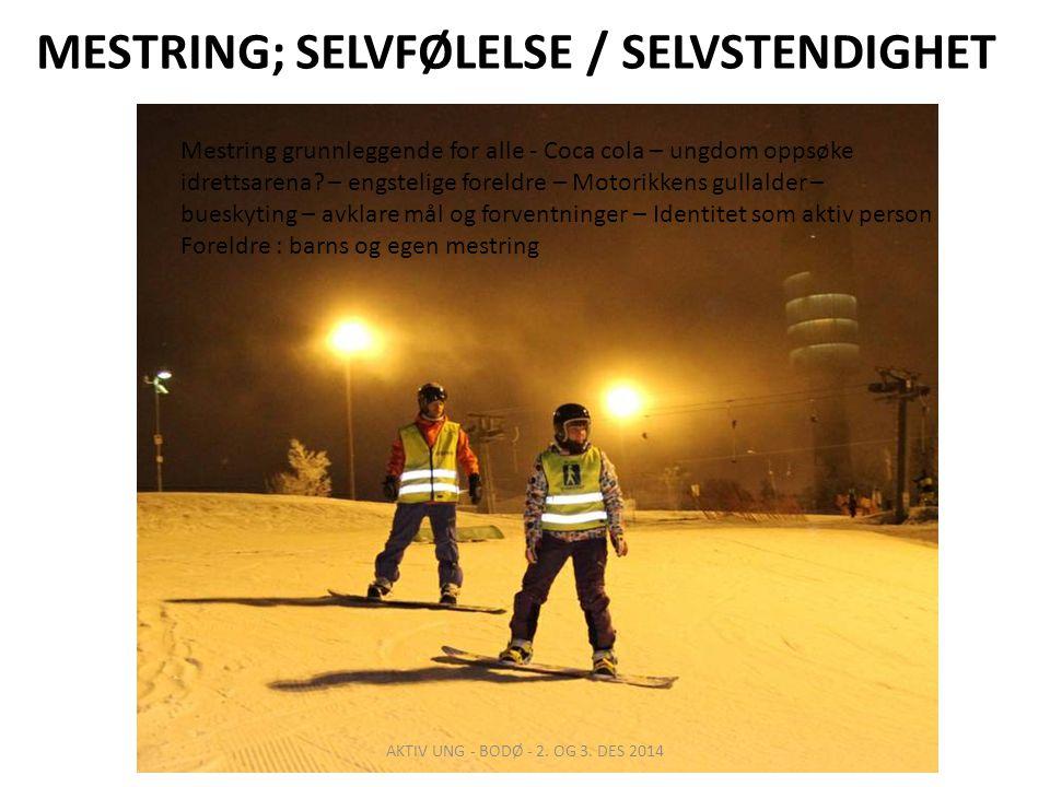 MESTRING; SELVFØLELSE / SELVSTENDIGHET AKTIV UNG - BODØ - 2.
