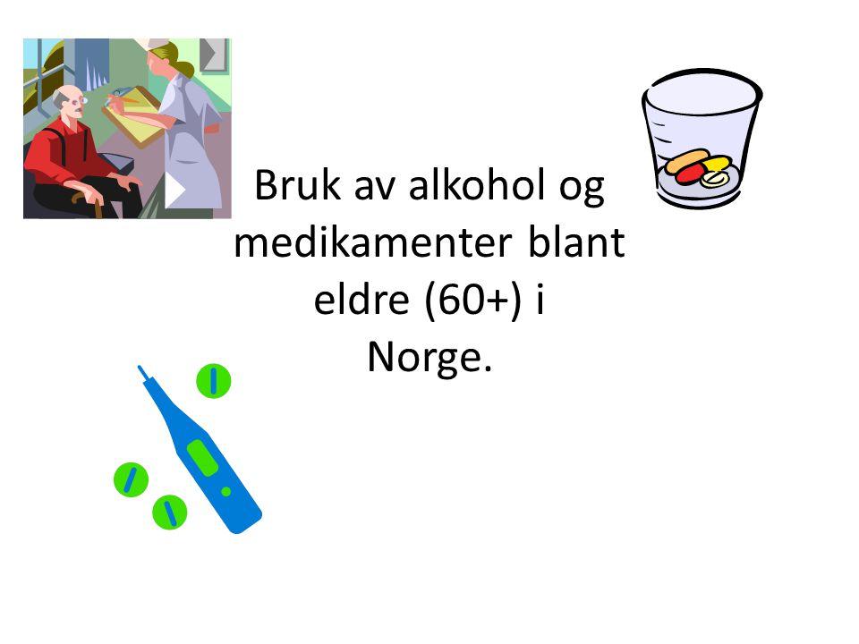 Få datakilder Det finnes ikke mange datakilder om bruk av alkohol og avhengighetsskapende medikamenter i Norge.