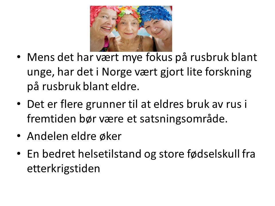 Mens det har vært mye fokus på rusbruk blant unge, har det i Norge vært gjort lite forskning på rusbruk blant eldre. Det er flere grunner til at eldre
