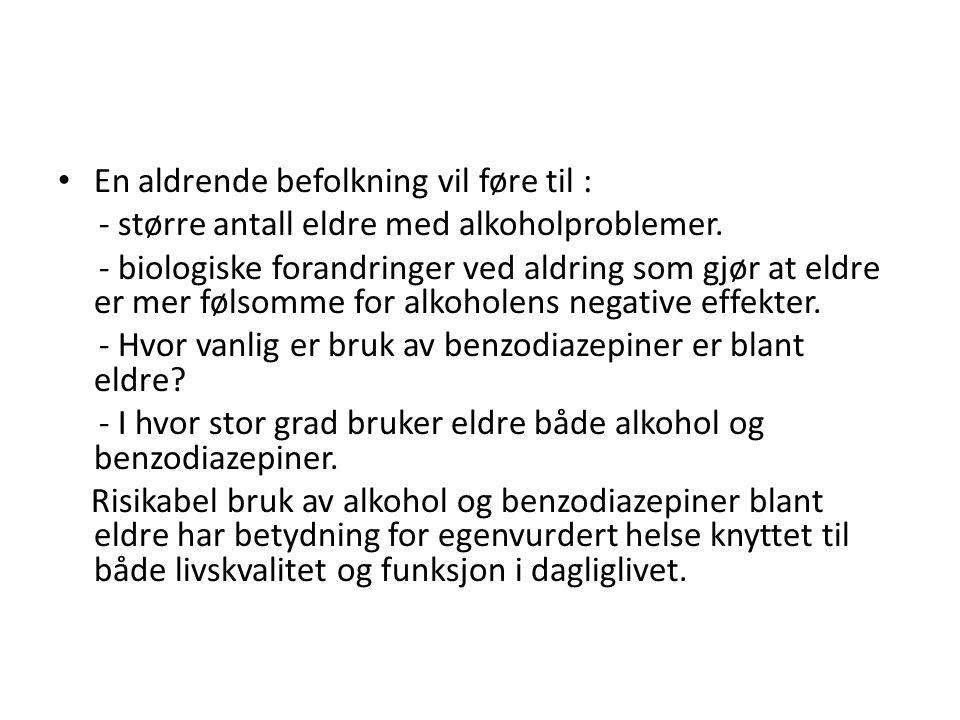 Alkohol er et legalt rusmiddel som brukes av stort sett hele befolkningen og er derfor det rusmiddelet som forårsaker de flest problemene i Norge, både med hensyn til hvor mange det er som har problem, men også i omfang av helsemessige og sosiale konsekvenser.