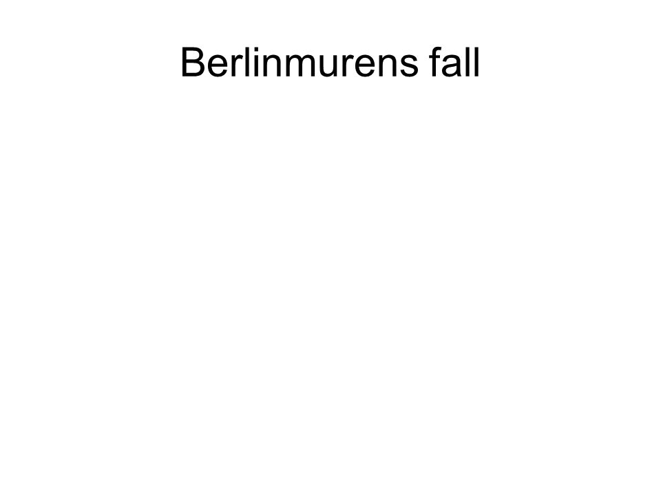 Berlinmurens fall