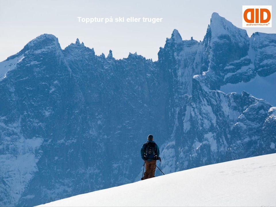 Topptur på ski eller truger
