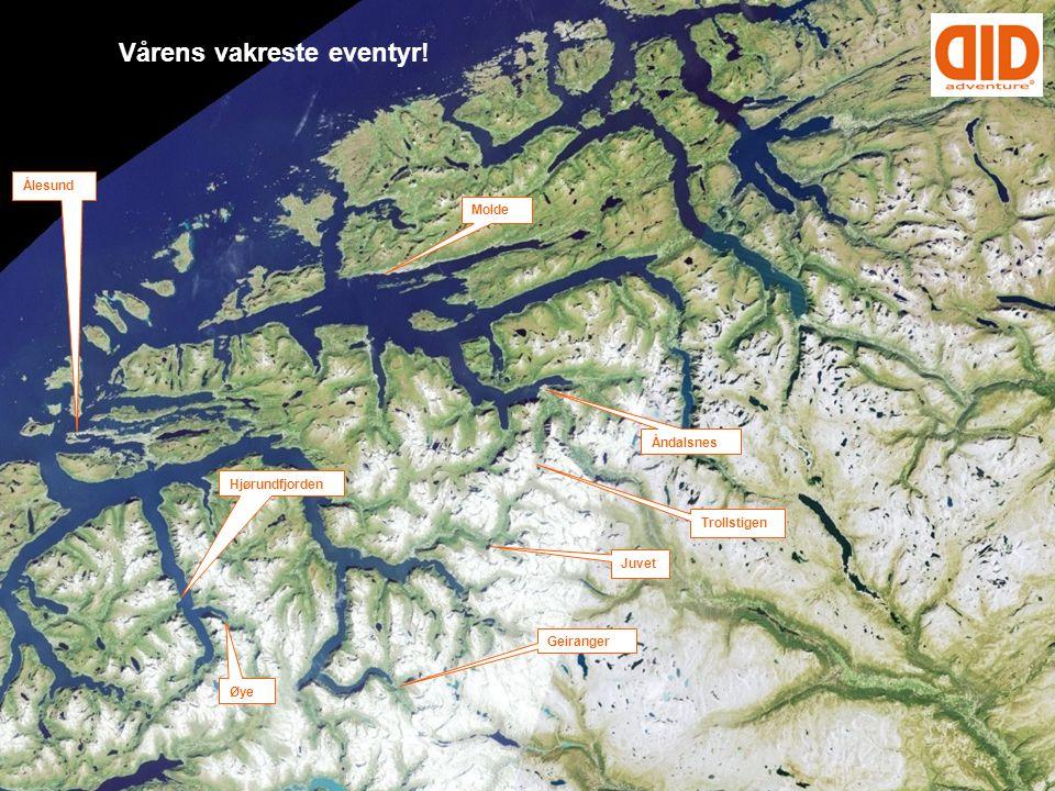Vårens vakreste eventyr! Ålesund Øye Molde Trollstigen Hjørundfjorden Geiranger Åndalsnes Juvet
