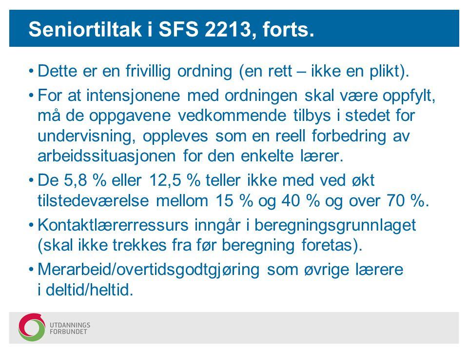 Seniortiltak – lokal arbeidstidsavtale Partene i Bergen kommune har en intensjon om at seniorer skal få en arbeidssituasjon som legger til rette for at den enkelte skal ha mulighet til å stå lengst mulig i jobb.