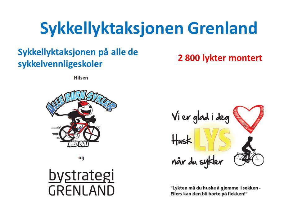 Sykkellyktaksjonen Grenland Sykkellyktaksjonen på alle de sykkelvennligeskoler 2 800 lykter montert