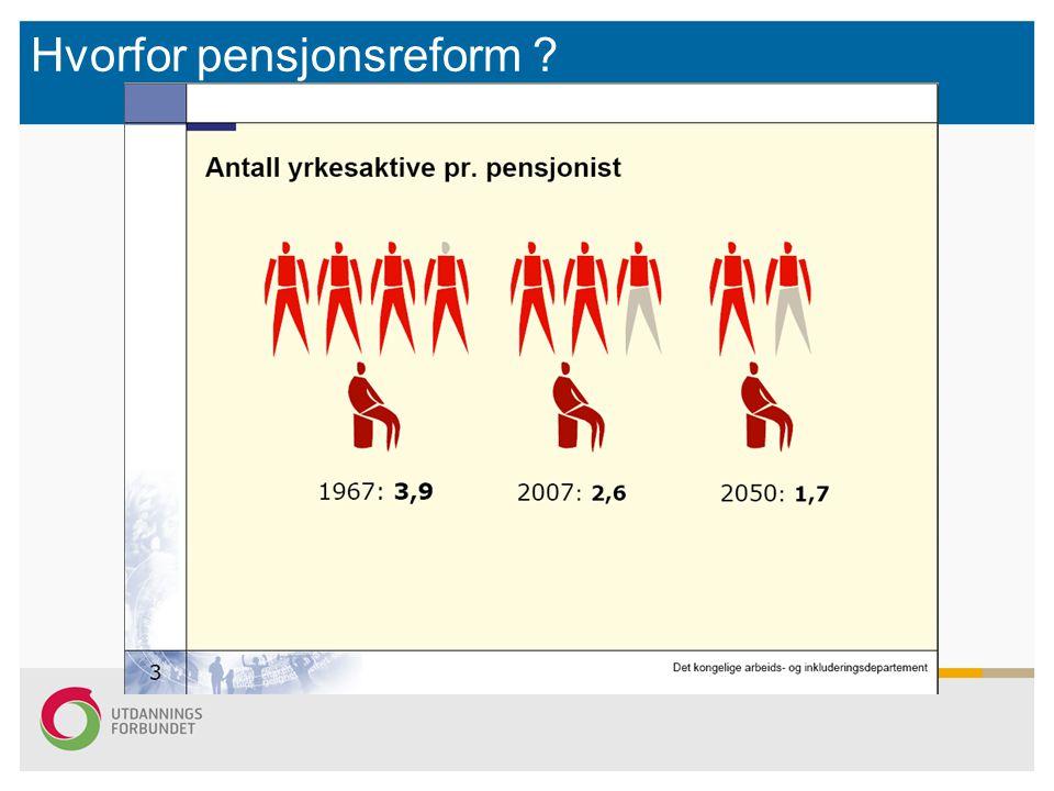 Hvorfor pensjonsreform ?