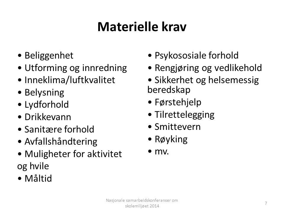 Nasjonale samarbeidskonferanser om skolemiljøet 2014 Helsetilsynet Fylkesmannen Kommunen Internkontroll (virksomheter og eiendom) 28 F.eks.