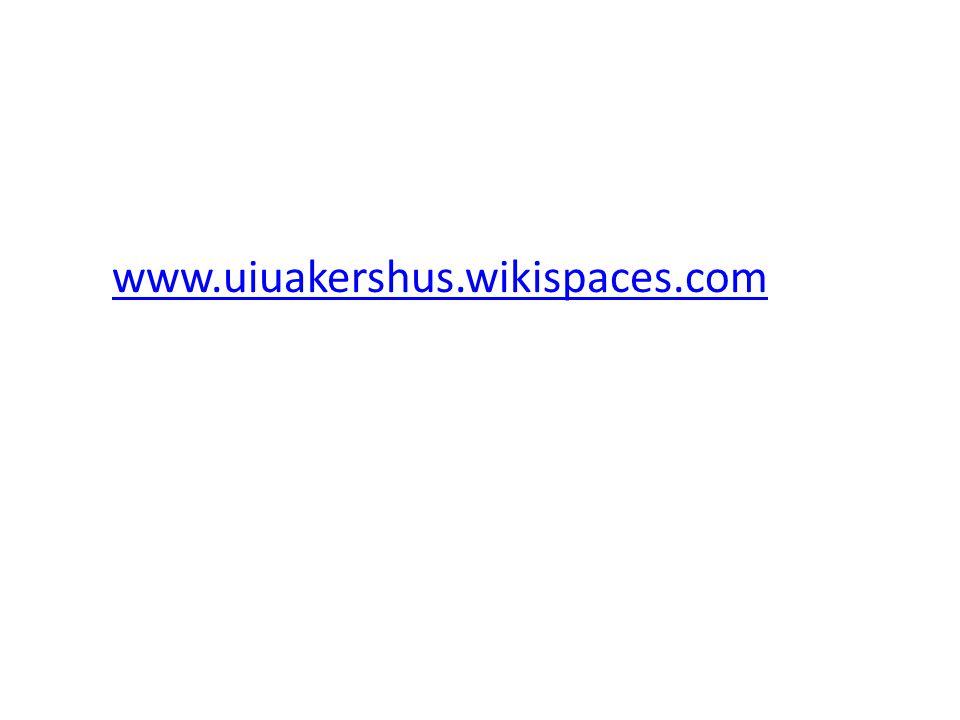 www.uiuakershus.wikispaces.com