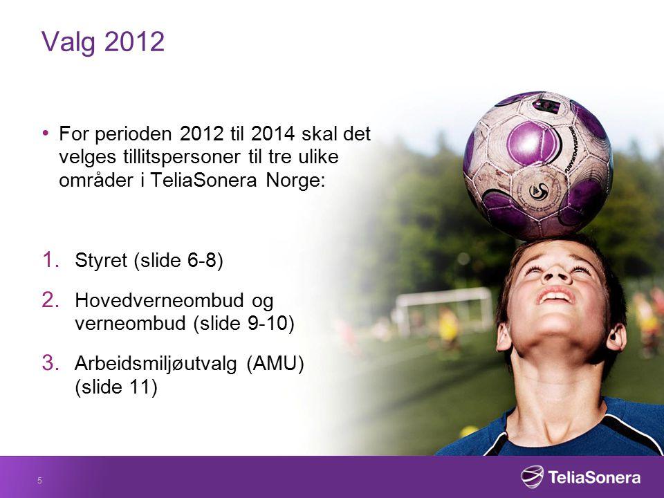 Styret TeliaSonera Norge AS sitt styre inkluderer tre ansattrepresentanter, samt tre vararepresentanter.