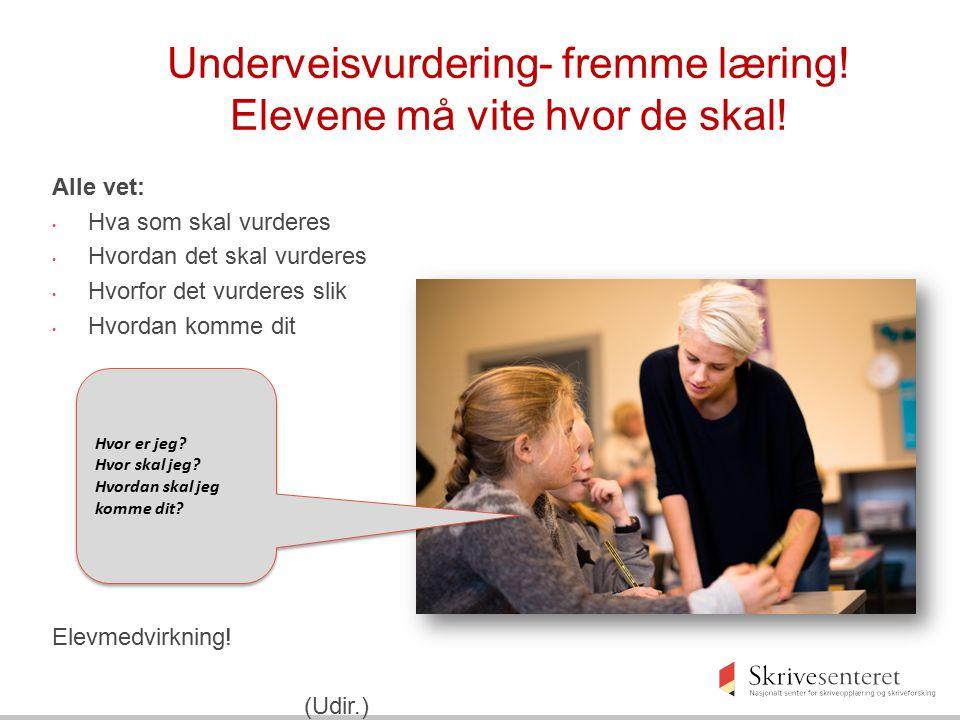 Kompetansemål Læringsmål og kriterier Underveisvurdering Læringsfremmende aktiviteter Å planlegge for læring Ikke aktivitets- planlegger