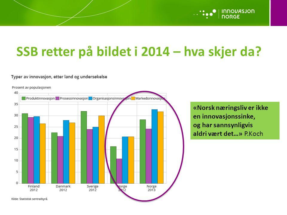 SSB retter på bildet i 2014 – hva skjer da? «Norsk næringsliv er ikke en innovasjonssinke, og har sannsynligvis aldri vært det…» P.Koch