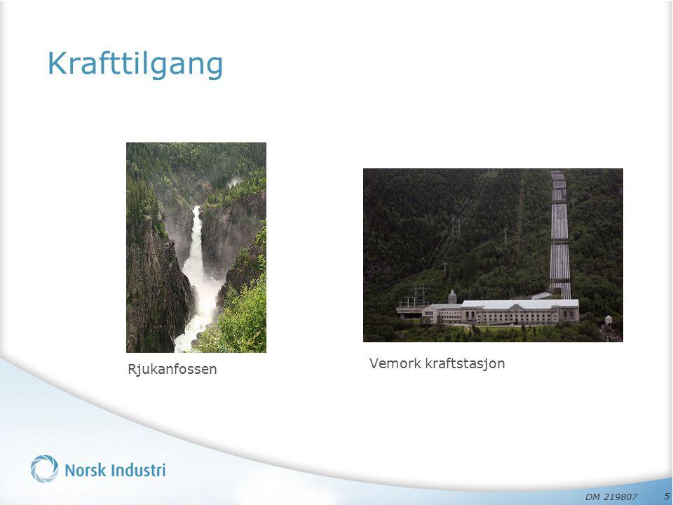 Krafttilgang Rjukanfossen 5 Vemork kraftstasjon DM 219807