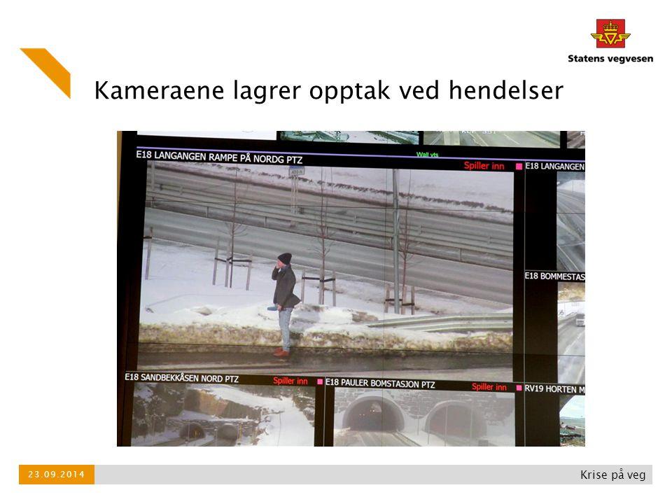 Kameraene lagrer opptak ved hendelser Krise på veg 23.09.2014